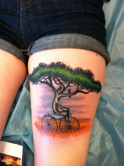 mountain bike tattoo ideas page 2. Black Bedroom Furniture Sets. Home Design Ideas