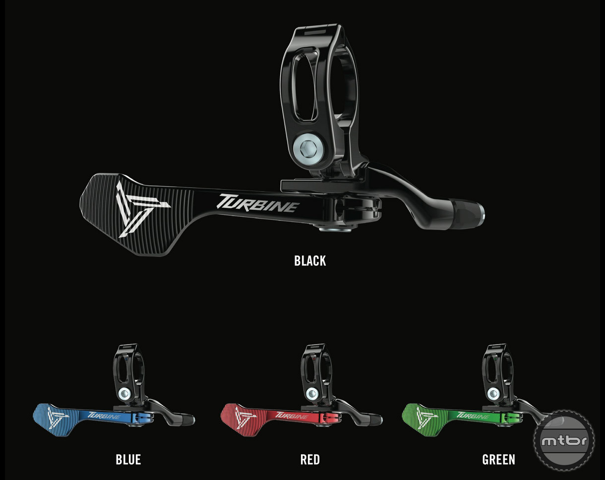 Optional trigger style levers are available for 1x drivetrains with no front shifter.