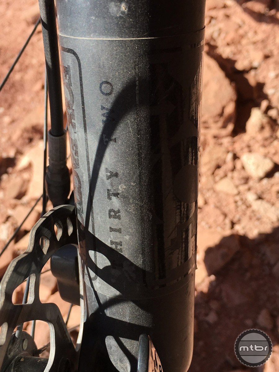 The Fox 32 fork did its job, but heavier or more aggressive riders will likely want something a little burlier.