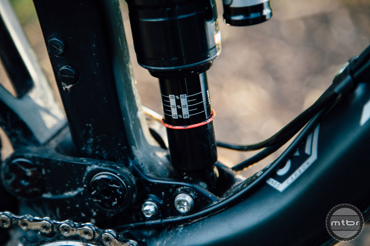 Almost every Monarch shock we've ridden has a tendency to spew oil, yet that has never negatively impacted performance.