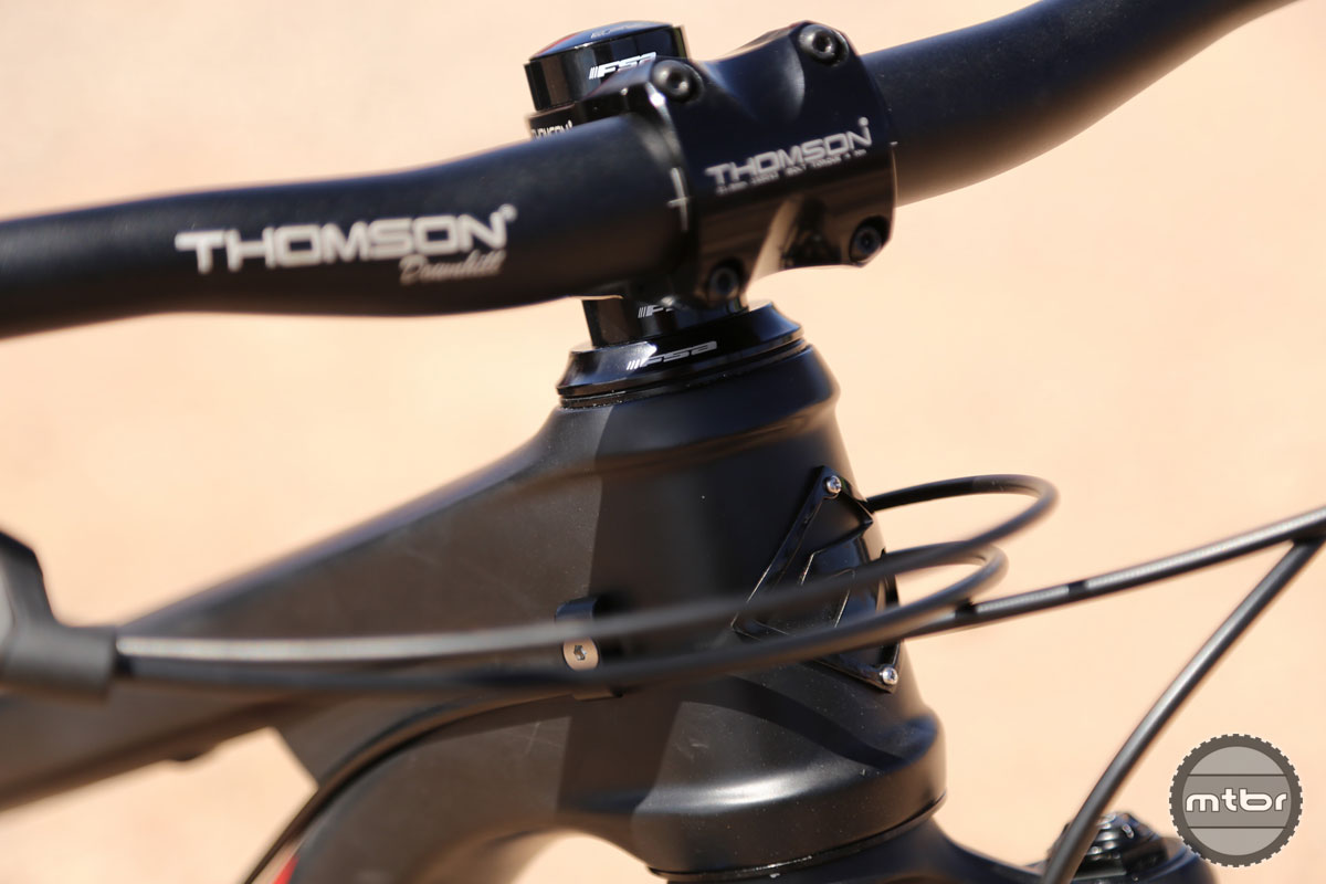 Cable routing is largely external, although there are provisions for a stealth routed dropper post.