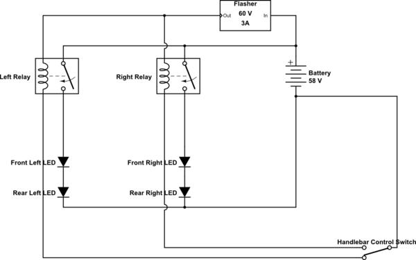 electronic flasher relay wiring diagram forums mtbr com  forums mtbr com