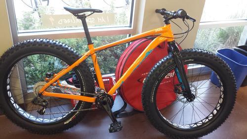 new bike day specialized fatboy orange mtbr com