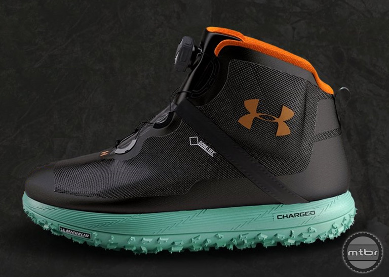 under armour fat tire boots. available later this summer, the fat tire boot features a michelin sole, goretex upper under armour boots