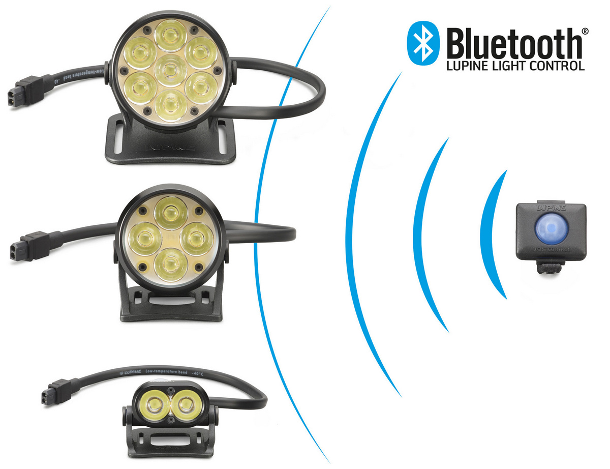 The Bluetooth controller can activate multiple lights at the same time.