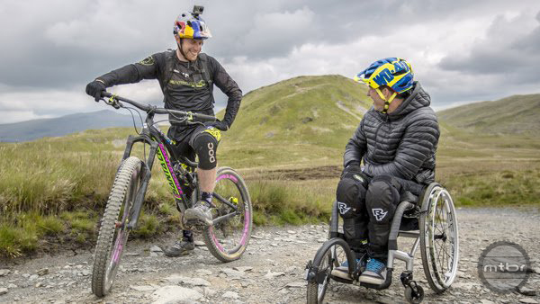 Danny Macaskill was there to ride with his friend.