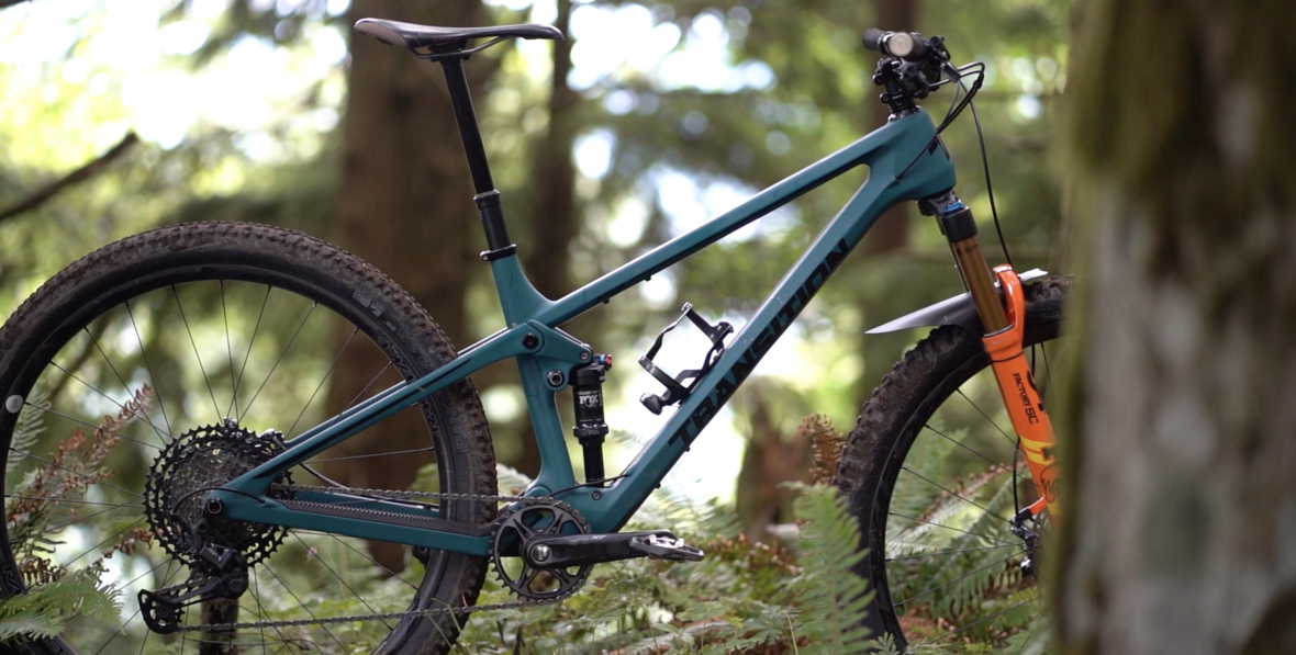 Lars Sterberg's has a few custom touches that blend XC efficiency with DH performance.