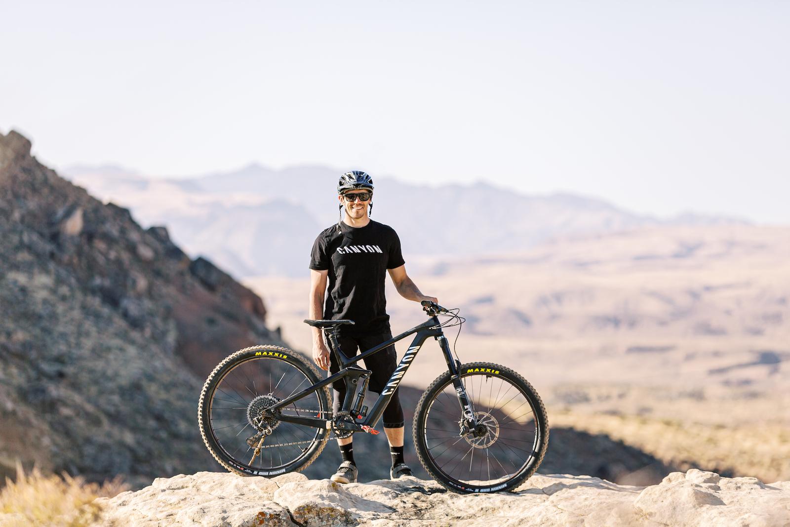 Braydon Bringhurst AKA BikerBrayd rides his Canyon Strive a bit differently from the average Joe.