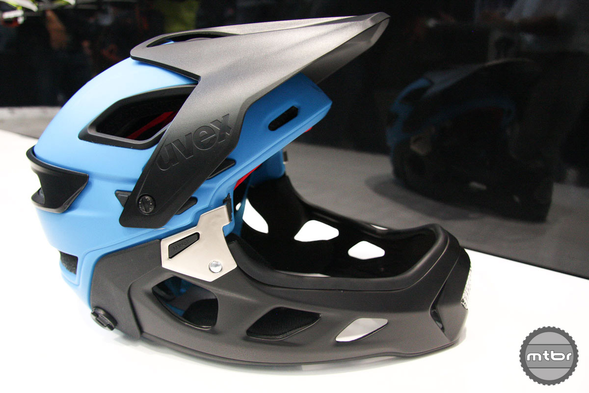 One of the new breed of trail helmets, good for the up and down.