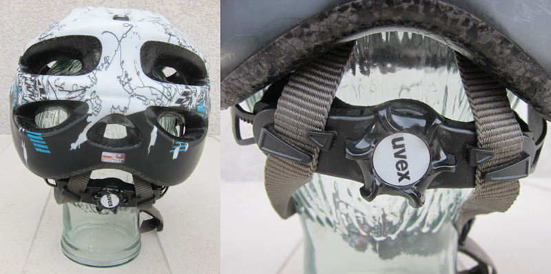 uvex xp cc helmet - rear viewpoint showing the vents and the adjustment wheel on the IAS 3D+ system