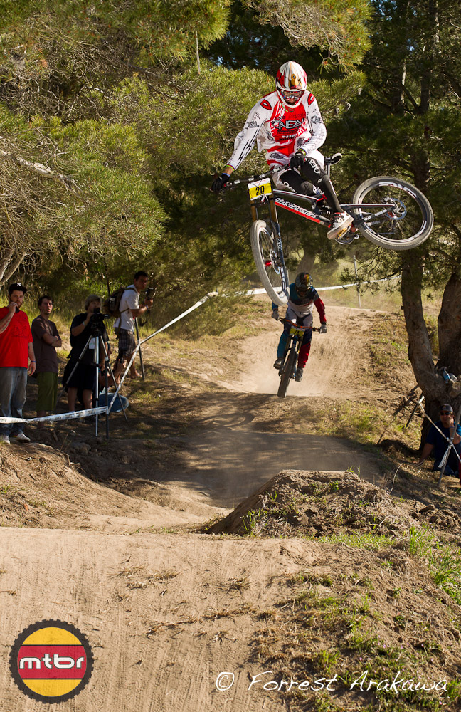 Greg Minnaar threw a killer whip almost every time down the course.