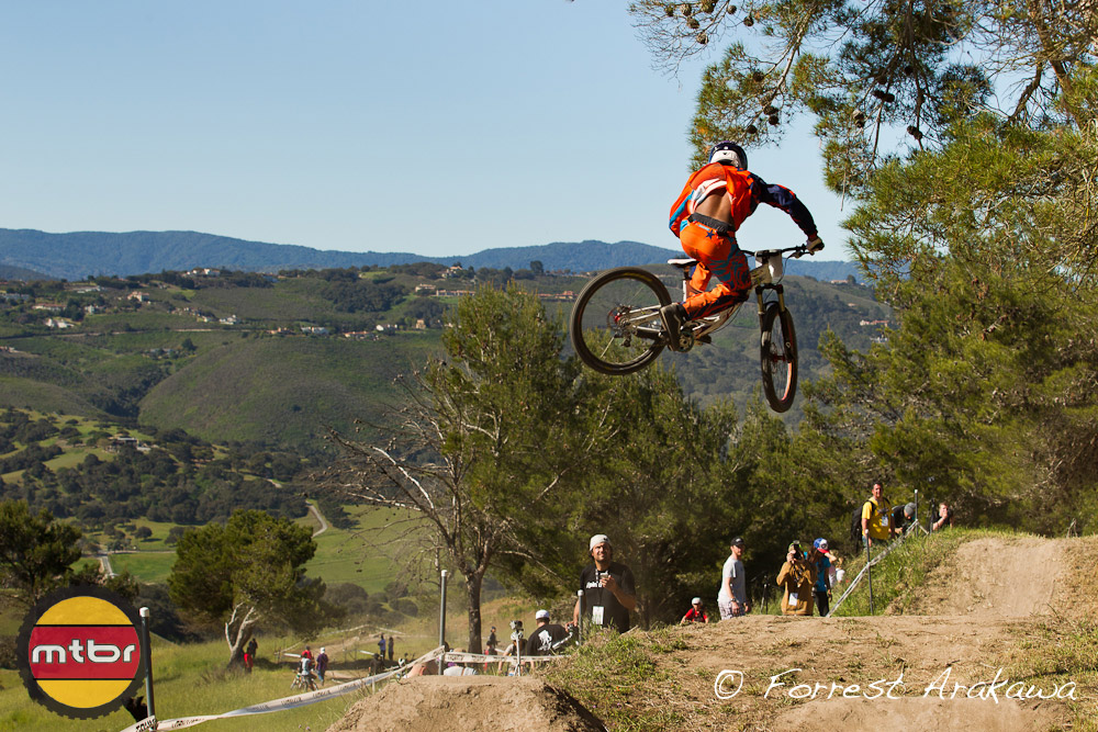 Not sure who this guy is but he was looking good over the jumps.