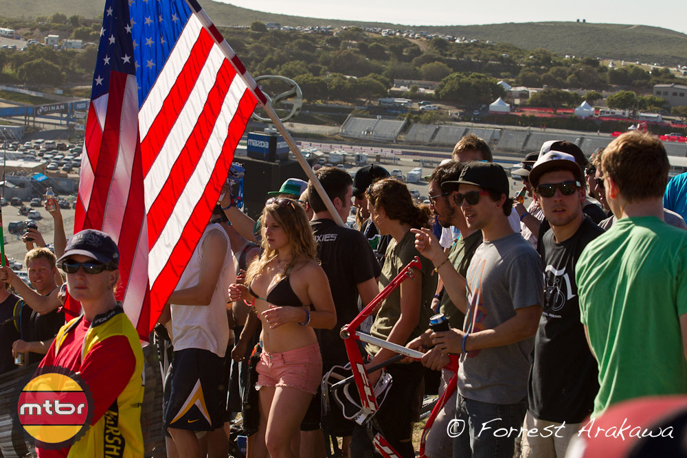 It's quite a scene on the DS course at Sea Otter