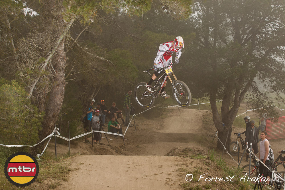 Greg Minnaar goes both ways with his whip:)