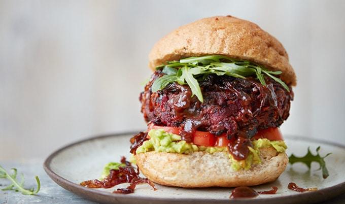 Vegetarian / Vegan / Raw recipes & chat-vegnews.beefyveganbeetburger.thenewnourishing.jpg