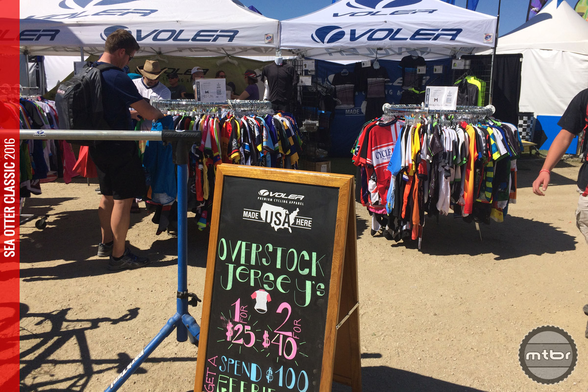 Voler always runs a fantastic overstock jersey sale at the Sea Otter Classic.