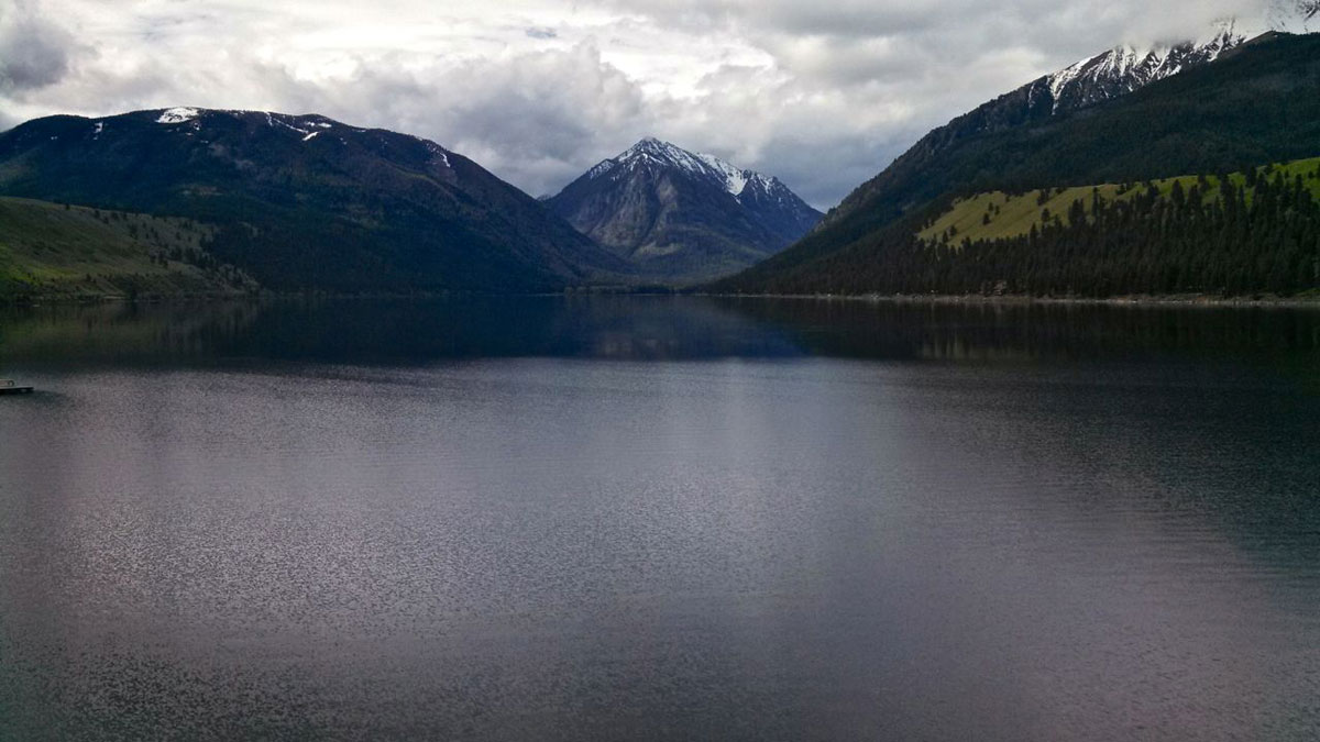 Wallowa Lake sits above the town of Joseph.