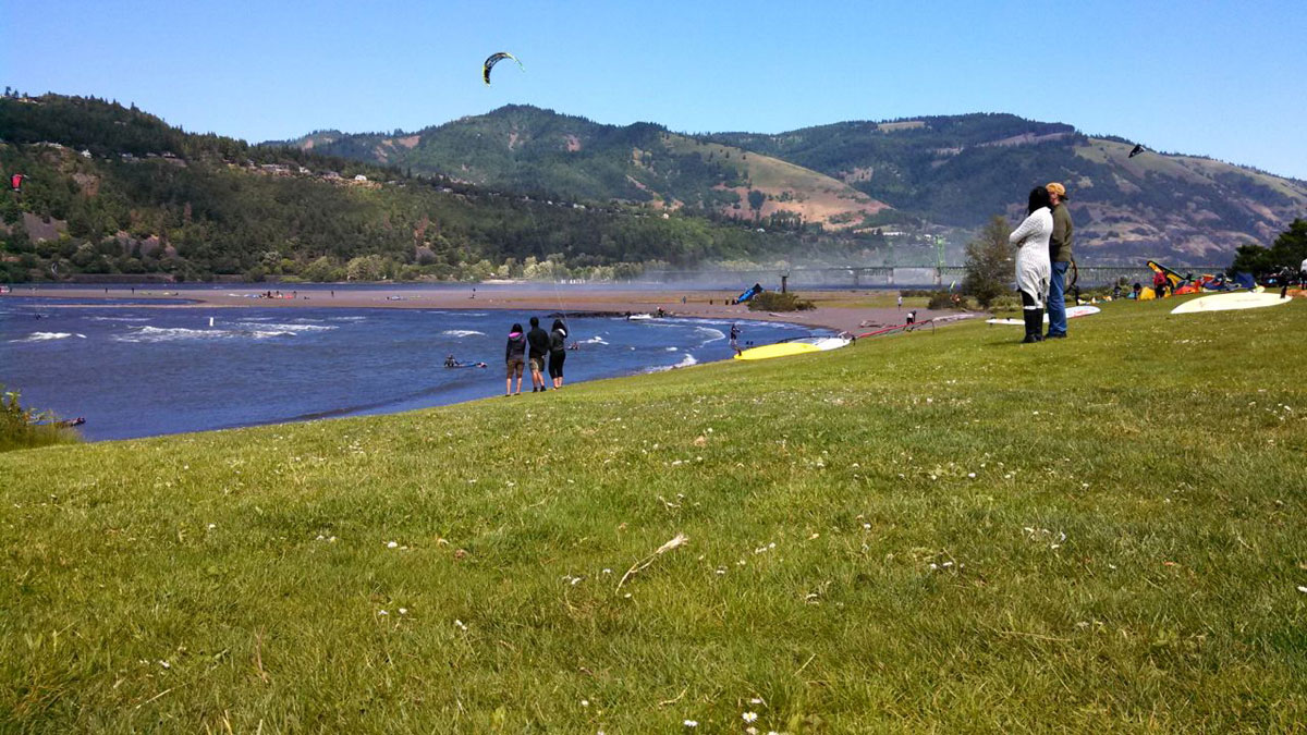 Hood River is one of the world's greatest locations for wind-driven water sports.