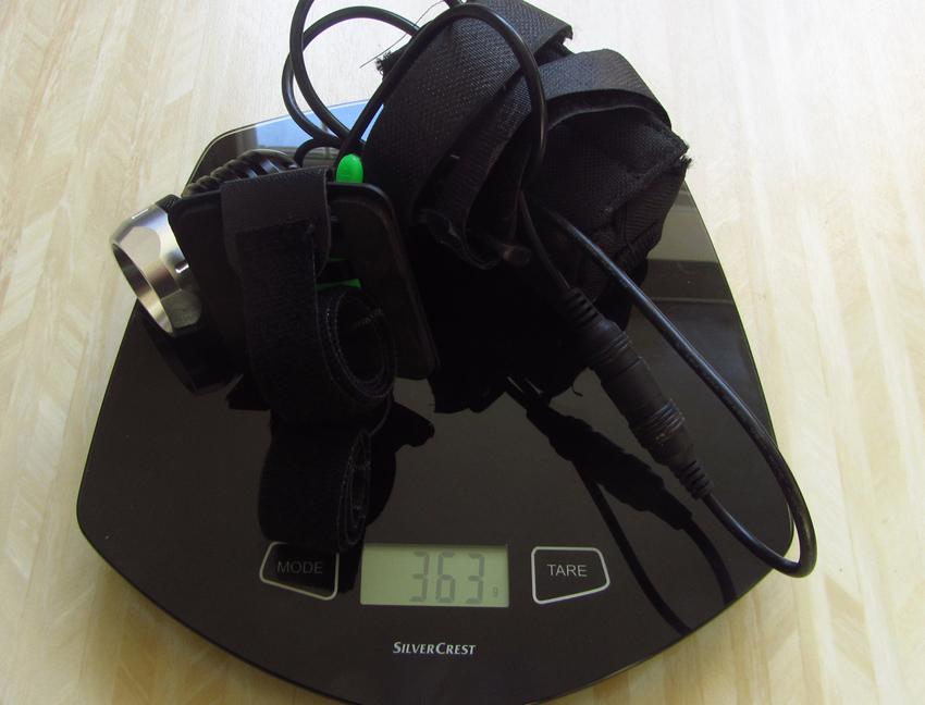 1200 lumens Helmet light kit UK mini review of the C&B SEEN CABS-1200 HMT-weight-1-.jpg