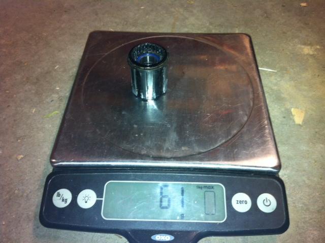XX1 Mini-Review & Weights, XTR Weights, Race Face Next Crank Weight-weight-dt-shim-freehub.jpg