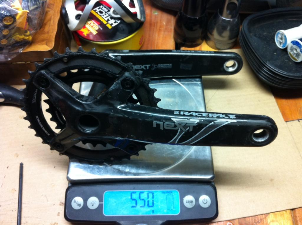 XX1 Mini-Review & Weights, XTR Weights, Race Face Next Crank Weight-weight-rf-crank.jpg