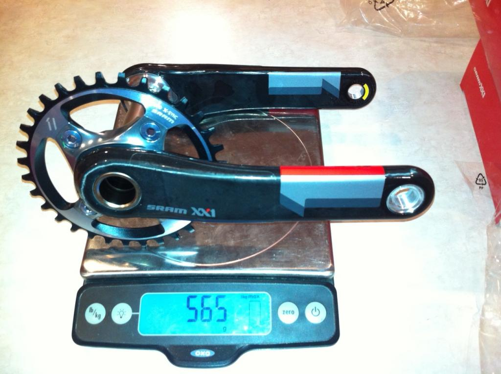 XX1 Mini-Review & Weights, XTR Weights, Race Face Next Crank Weight-weight-xx1-crank.jpg