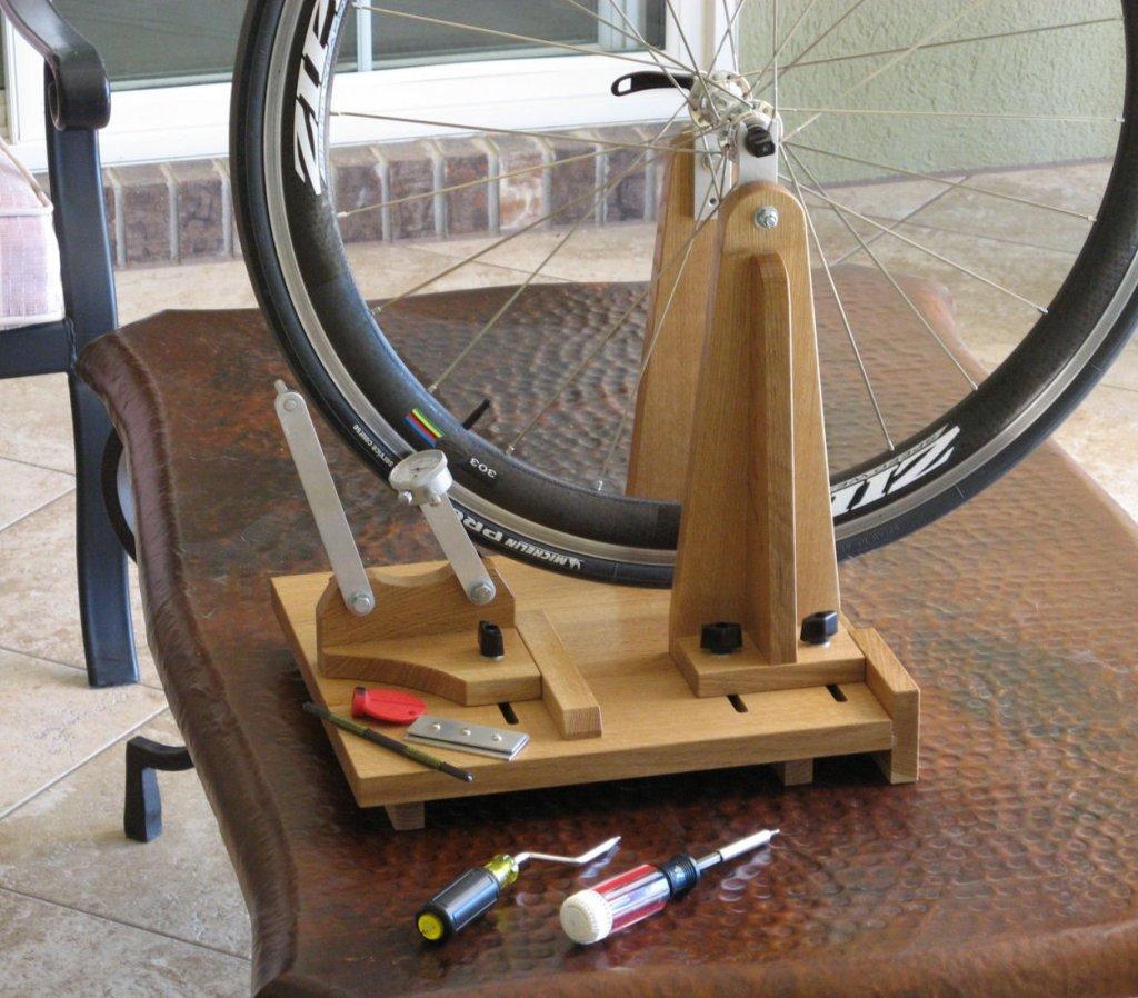 no truing stand Wheeltru home cycle bike wheel truing tool jig portable