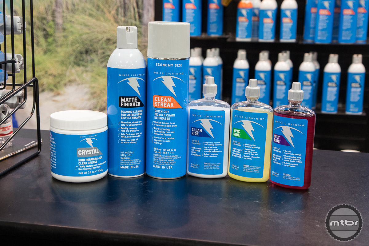 White Lightning is one of the oldest names in the cycling maintenance and they have freshened up their products with new packaging and a new logo.