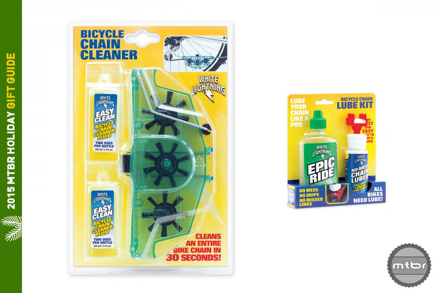 White Lightning Chain Cleaner Kit and Chain Lube Kit