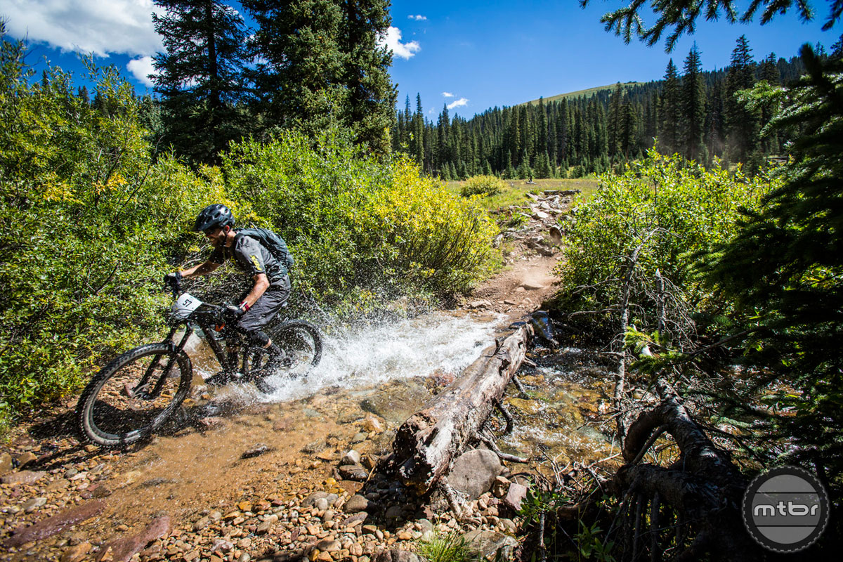 Will Olson on Trail 400 during the 2014 Crested Butte Ultra Enduro. Photo by Devon Balet Media