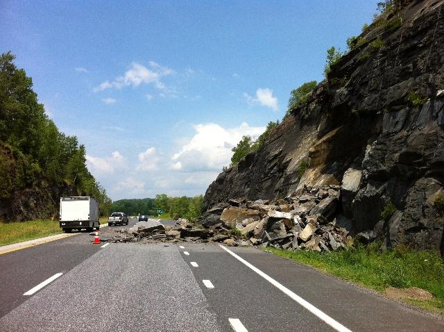 """Bikes May Use Full Lane""  Signs-williamstown-rockslide.jpg"