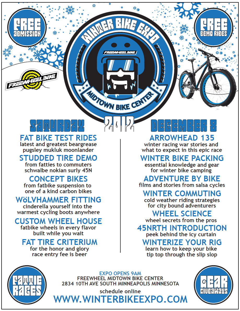 Winter Bike Expo - event flyer