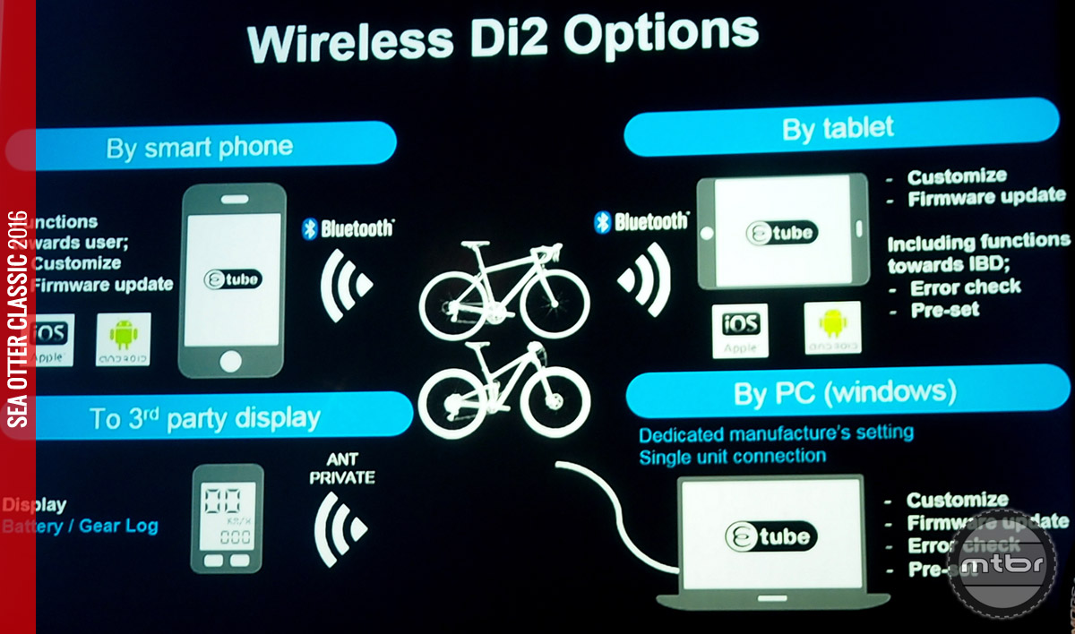 Di2 can now be configured with a tablet or smartphone.