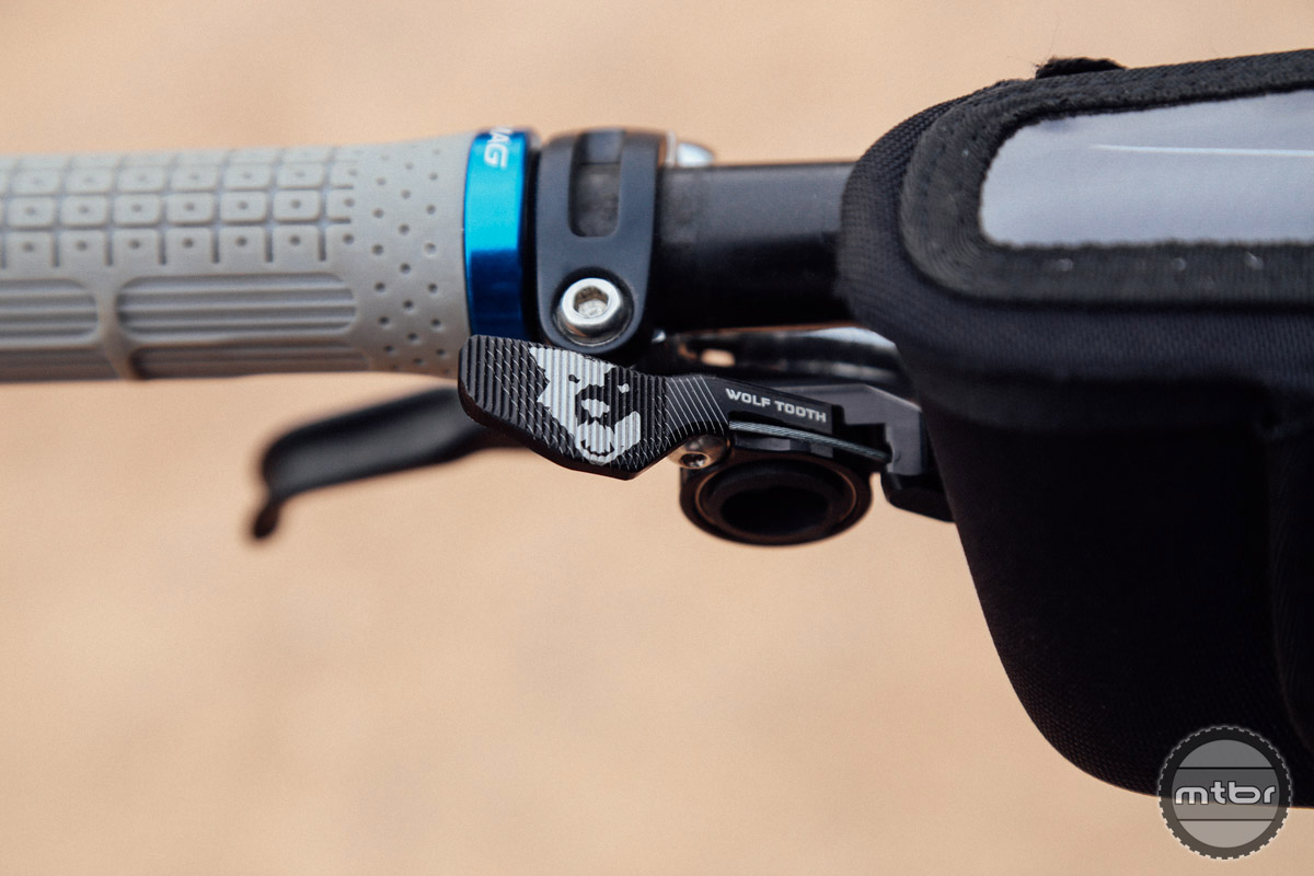 New dropper post lever from Wolf Tooth Components.