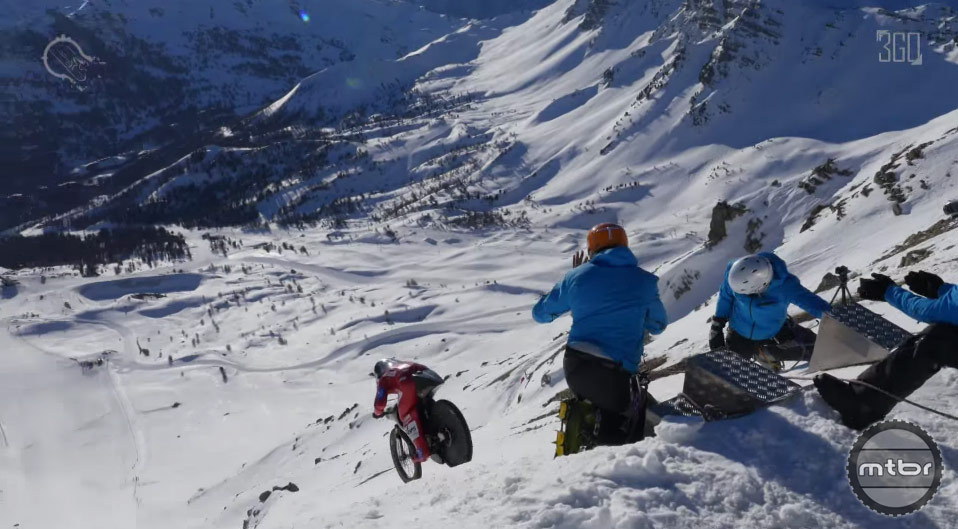 Eric Barone breaks his own mountain bike speed record.