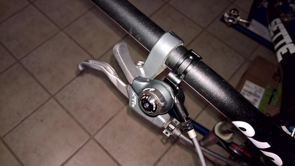 MicroShift Double//Triple 9 speed Thumb Shifters Silver
