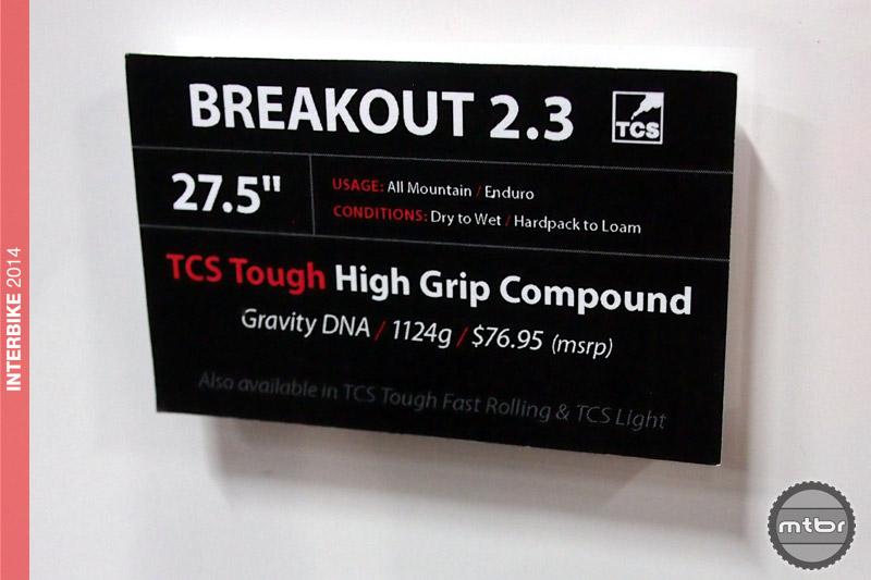 WTB Breakout 2.3 specs