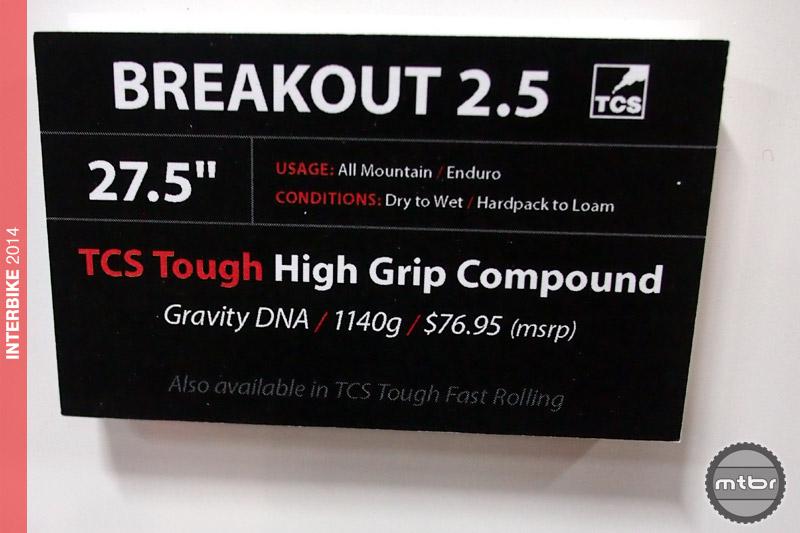 WTB Breakout 2.5 specs