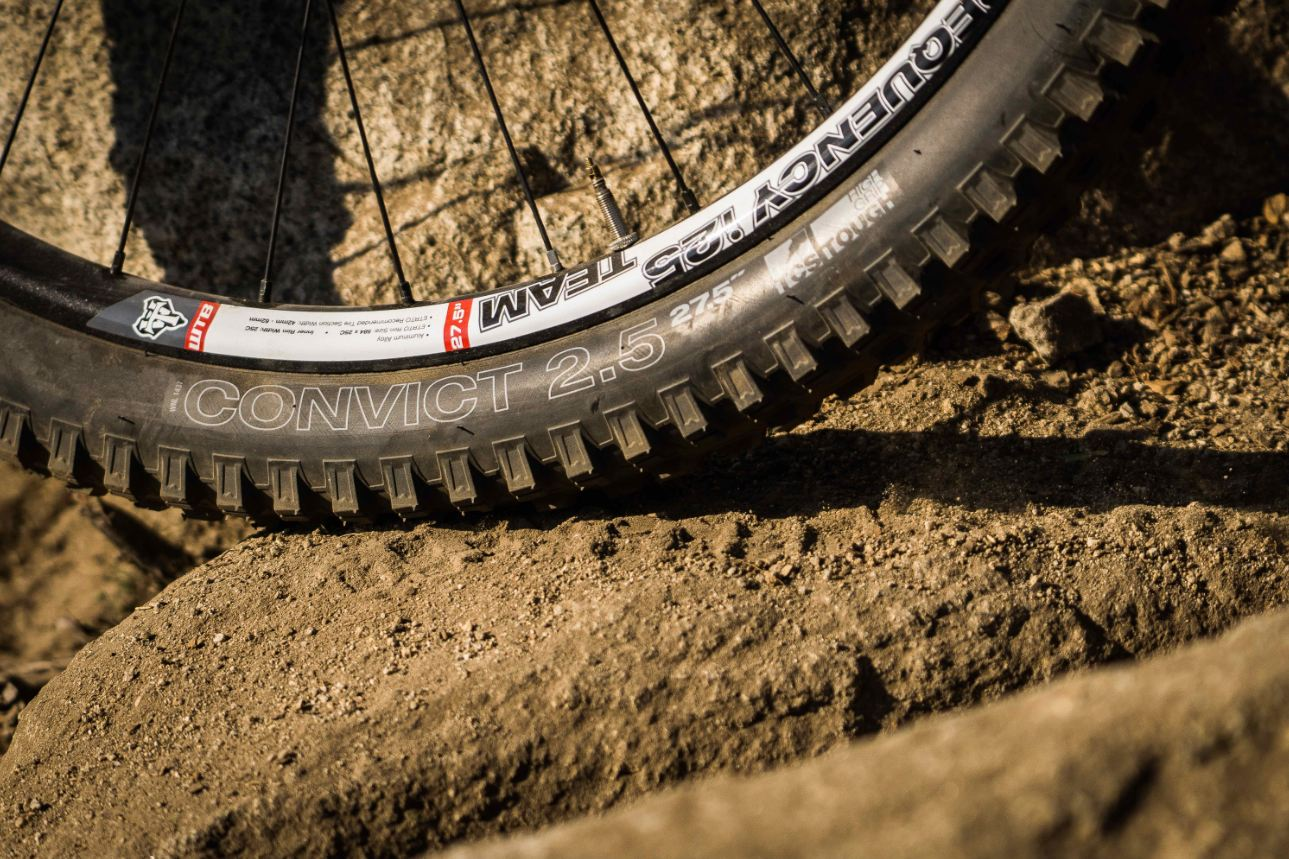"The Convict is only available as a 2.5"" 27.5 tire. We hope to see the product line expand in the future."