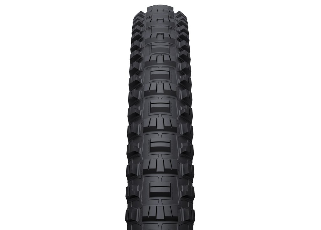The tread features multi direction siping for traction in all conditions.