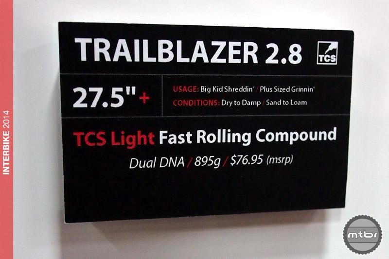 WTB Trailblazer 2.8 specs
