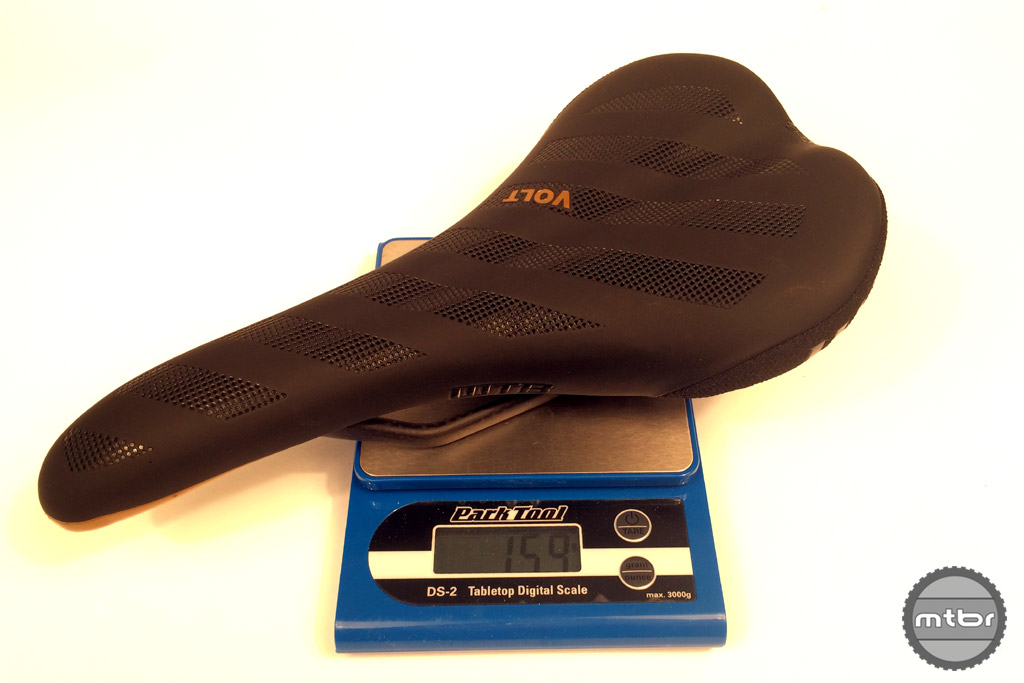 The new 159-gram Volt Carbon is the lightest production saddle WTB has ever made. It features carbon fiber rails and surprisingly comes with no rider weight limitation. The shape is classic WTB style and features a pressure relief groove for comfort. The $249.95 features a two-year warranty and will begin shipping in December.