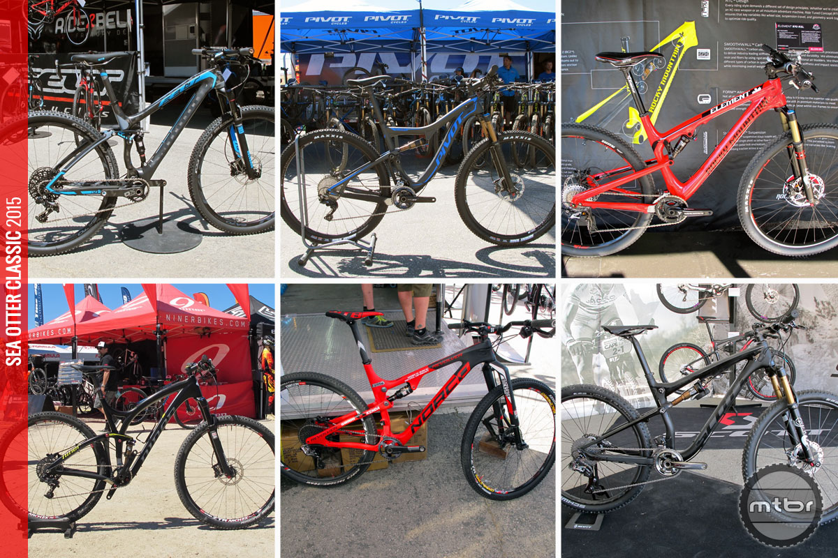 Full-suspension cross country bikes spotted at Sea Otter that are equally at home between the tape, or at the trailhead.