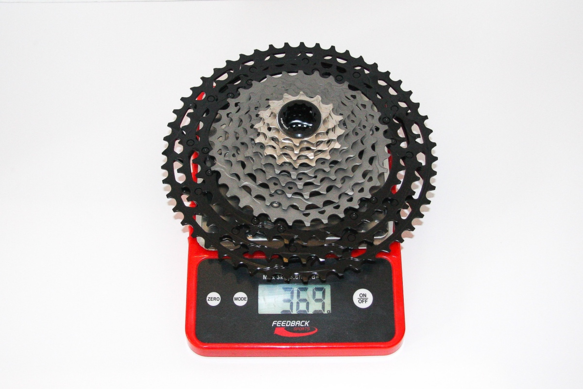 Shimano's multi-material 12-speed 10-51 cassette isn't the lightest option out there, but it may well be the best. Photo by Jason Sumner