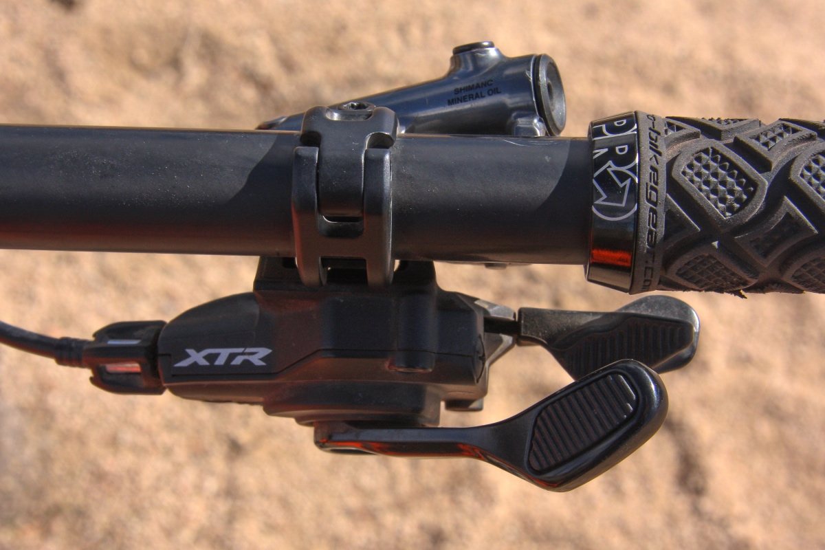 The multi-functional and talented shift lever quickly became a favorite piece of the XTR puzzle. Photo by Jason Sumner
