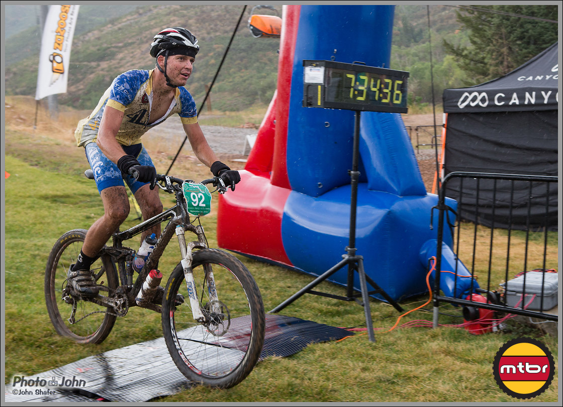 Darrel Roundy - Finishing In The Rain - 2012 Park City Point-To-Point