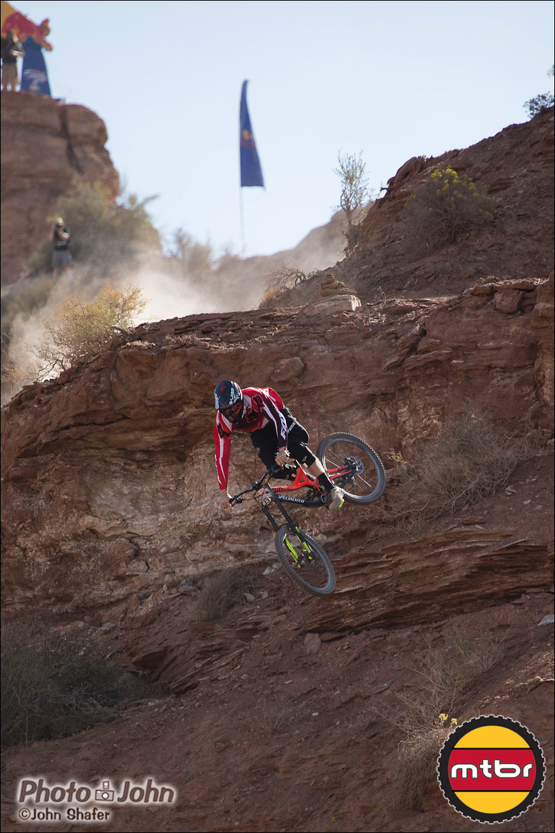 Kyle Norbraten Dives In - 2012 Red Bull Rampage Qualifying