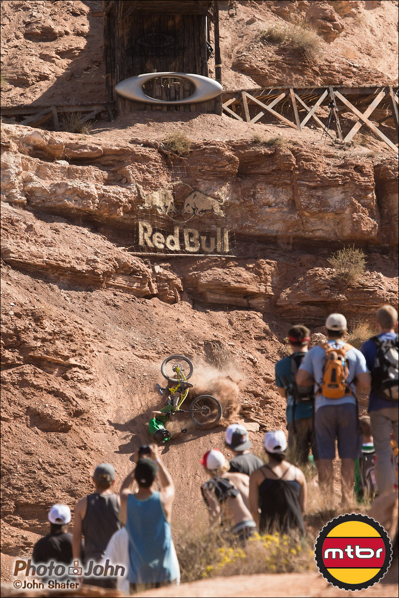 Mike Kinrade - Oakley Sender Crash - 2012 Red Bull Rampage Qualifying