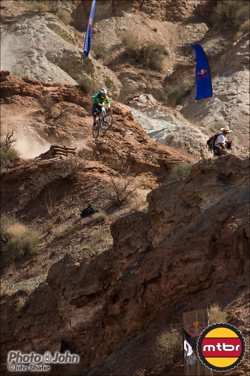 Antoine Bizet Launching - 2012 Red Bull Rampage Qualifying