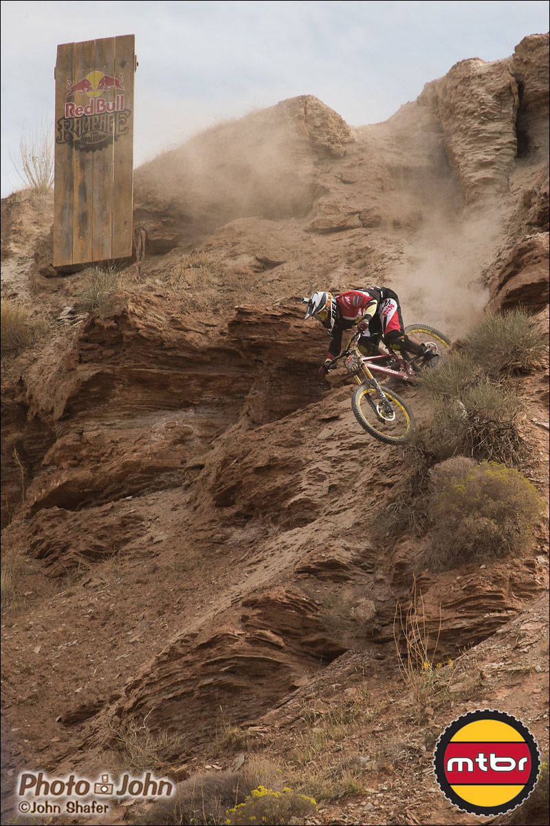 Mick Hannah Attacking - 2012 Red Bull Rampage Qualifying